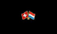 Freundschaftspin Schweiz - Luxemburg - 22 mm