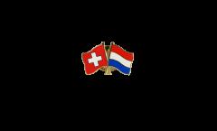 Freundschaftspin Schweiz - Niederlande - 22 mm