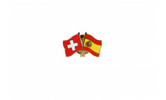 Freundschaftspin Schweiz - Spanien - 22 mm