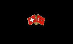 Freundschaftspin Schweiz - Türkei - 22 mm