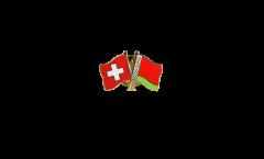 Freundschaftspin Schweiz - Weissrussland - 22 mm
