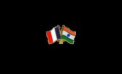 Freundschaftspin Frankreich - Indien - 22 mm