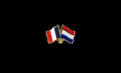Freundschaftspin Frankreich - Niederlande - 22 mm