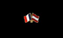 Freundschaftspin Frankreich - Österreich - 22 mm