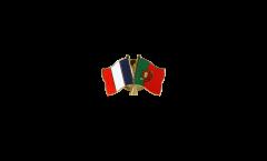 Freundschaftspin Frankreich - Portugal - 22 mm
