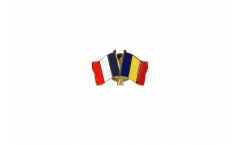 Freundschaftspin Frankreich - Rumänien - 22 mm