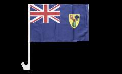 Autofahne Turks- und Caicosinseln - 30 x 40 cm