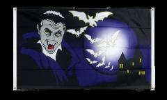 Balkonflagge Halloween Vampir und Fledermäuse - 90 x 150 cm