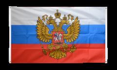 Balkonflagge Russland mit Wappen - 90 x 150 cm