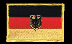 Aufnäher Deutschland mit Adler - 8 x 6 cm