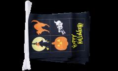 Fahnenkette Happy Halloween 4 - 15 x 22 cm