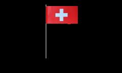 Papierfahnen Schweiz - 12 x 24 cm
