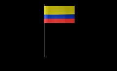 Papierfahnen Kolumbien - 12 x 24 cm