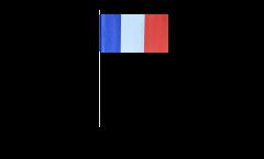 Papierfahnen Frankreich - 12 x 24 cm