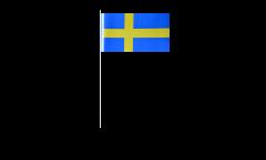 Papierfahnen Schweden - 12 x 24 cm