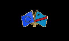 Freundschaftspin Europa - Demokratische Republik Kongo - 22 mm