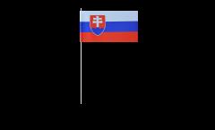 Papierfahnen Slowakei - 12 x 24 cm