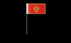 Papierfahnen Montenegro - 12 x 24 cm