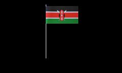 Papierfahnen Kenia - 12 x 24 cm