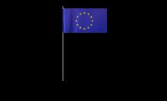 Papierfahnen Europäische Union EU - 12 x 24 cm