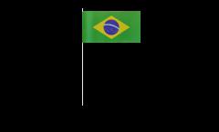 Papierfahnen Brasilien - 12 x 24 cm