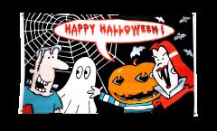 Balkonflagge Happy Halloween Monster - 90 x 150 cm