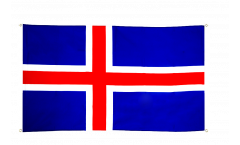 Balkonflagge Island - 90 x 150 cm