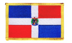 Aufnäher Dominikanische Republik - 8 x 6 cm