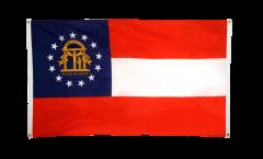 Balkonflagge USA Georgia - 90 x 150 cm