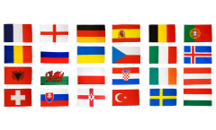 Flaggen Set EM 2016 - 30 x 45 cm