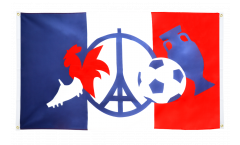Balkonflagge EM 2016 - 90 x 150 cm