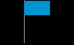 Papierfahnen Einfarbig Blau - 12 x 24 cm
