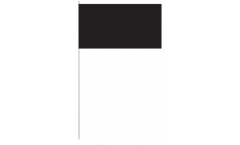 Papierfahnen Einfarbig Schwarz - 12 x 24 cm