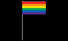 Papierfahnen Regenbogen - 12 x 24 cm