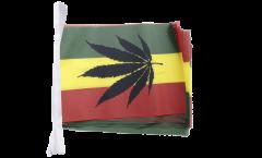 Fahnenkette Cannabis Reggae - 15 x 22 cm
