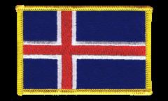 Aufnäher Island - 8 x 6 cm