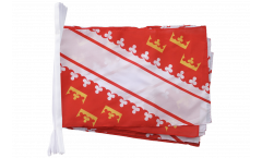 Fahnenkette Frankreich Elsass neu - 30 x 45 cm