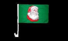 Autofahne Weihnachtsmann - 30 x 40 cm