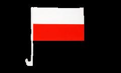 Autofahne Polen - 30 x 40 cm