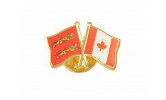 Freundschaftspin Basse Normandie - Kanada - 22 mm
