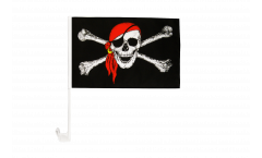 Autofahne Pirat mit Kopftuch - 30 x 40 cm
