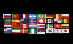 Flaggen Set Fußball 2018 - 150 x 250 cm