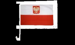 Autofahne Polen mit Adler - 30 x 40 cm