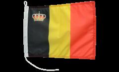 Bootsfahne Belgien mit Krone - 30 x 40 cm