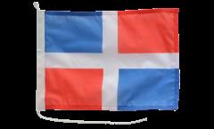 Bootsfahne Dominikanische Republik ohne Wappen - 30 x 40 cm