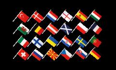 EM Stockflaggen Set Fußball 2021 - 30 x 45 cm