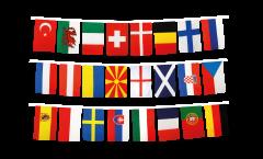 EM Flaggenkette Fußball 2021 - 15 x 22 cm