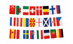 EM Flaggenkette Fußball 2021 - 30 x 45 cm