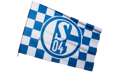 Stockflagge FC Schalke 04 Karo - 60 x 90 cm