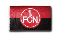 Hissflagge 1. FC Nürnberg Logo rot-schwarz - 150 x 250 cm
